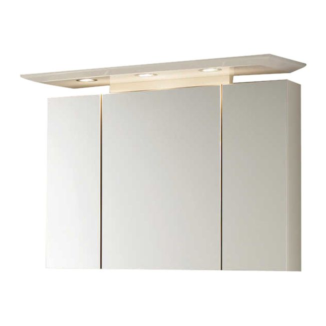 Spiegelschrank Bino - weiß - 100cm breit