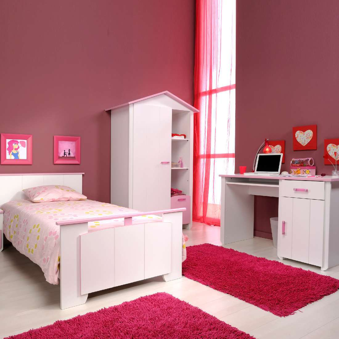nachtkastje in landhuisstijl met 2 laden home affaire. Black Bedroom Furniture Sets. Home Design Ideas