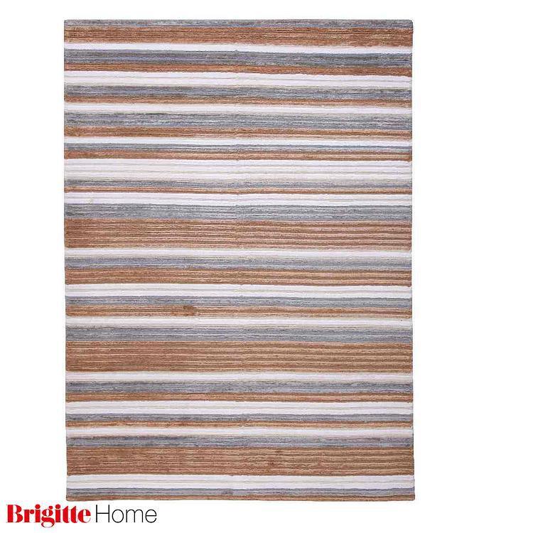 Teppich Cool Selection – Handgeknüpft – Braun gestreift – 170 x 240 cm, Brigitte Home bestellen
