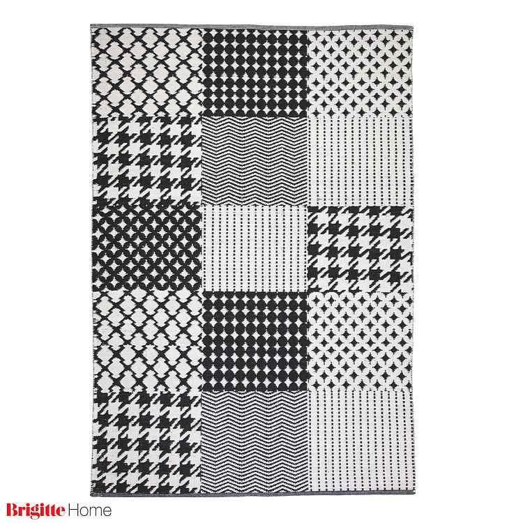 Teppich Easy Sunset – Handgewebt – Schwarz/Weiß – 170 x 240 cm, Brigitte Home günstig kaufen