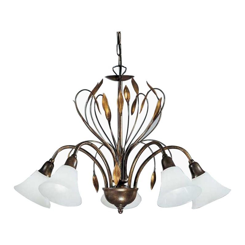 Kronleuchter Campana ○ Metall/Glas ○ Bronze/Opal ○ 5 Flammig  Hans Kögl A+  Bestellen