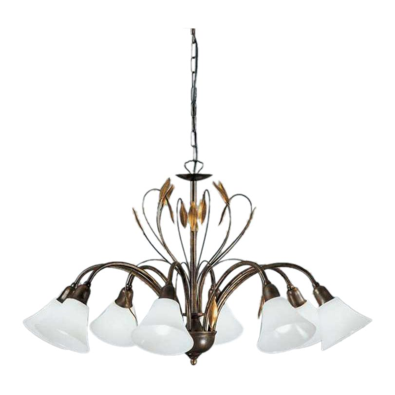 Kronleuchter Campana ○ Metall/Glas ○ Bronze/Opal ○ 8 Flammig  Hans Kögl A+  Kaufen
