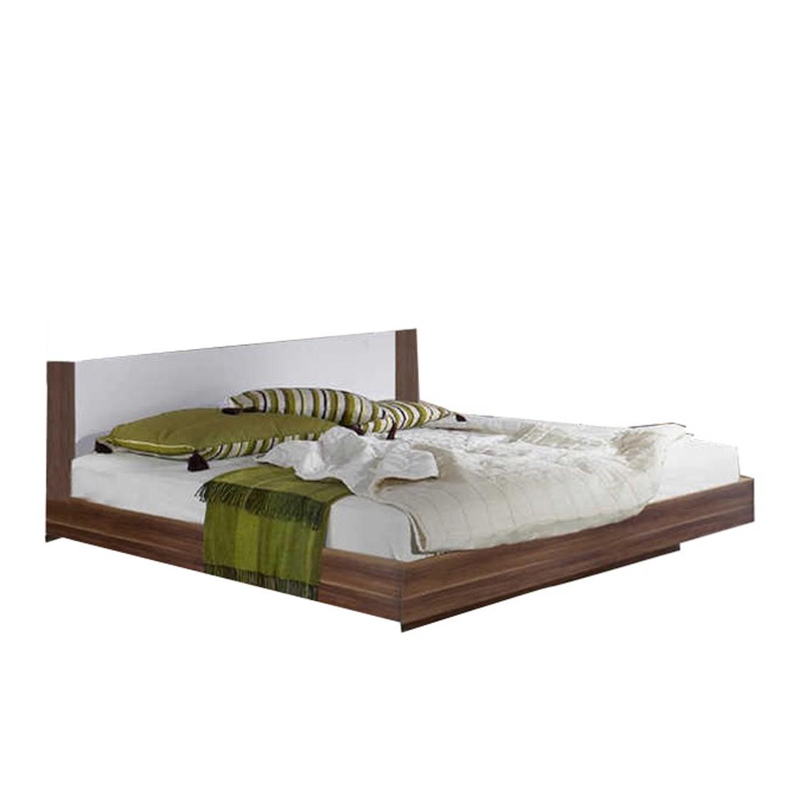 bett nora 180 x 200cm nussbaum dekor wei wimex online kaufen. Black Bedroom Furniture Sets. Home Design Ideas