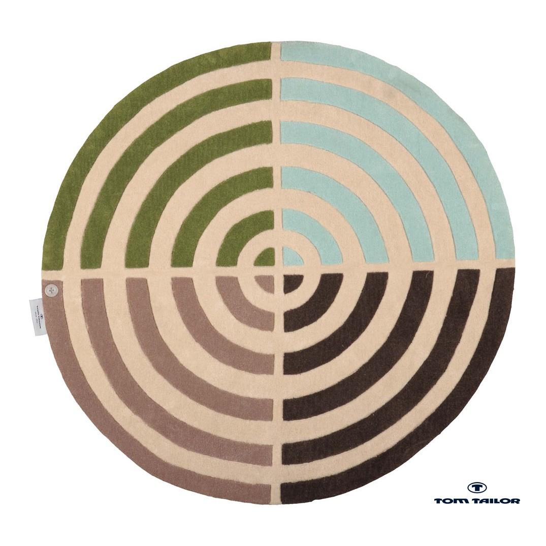 Teppich Circle – blue/green – 100cm rund, Tom Tailor günstig bestellen