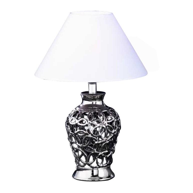 EEK A++, Tischleuchte Coco – Höhe 40 cm – Silberfarbig, Honsel jetzt bestellen