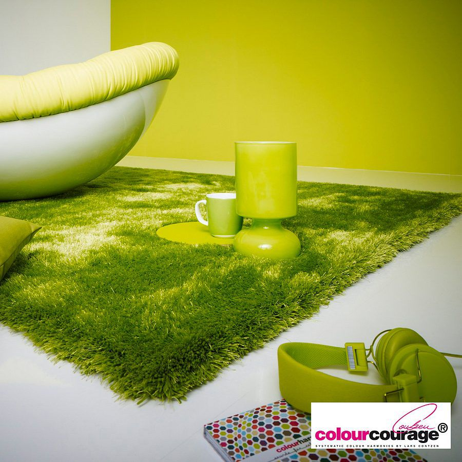teppich sapgreen gr n 140 x 200 cm colourcourage g nstig online kaufen. Black Bedroom Furniture Sets. Home Design Ideas