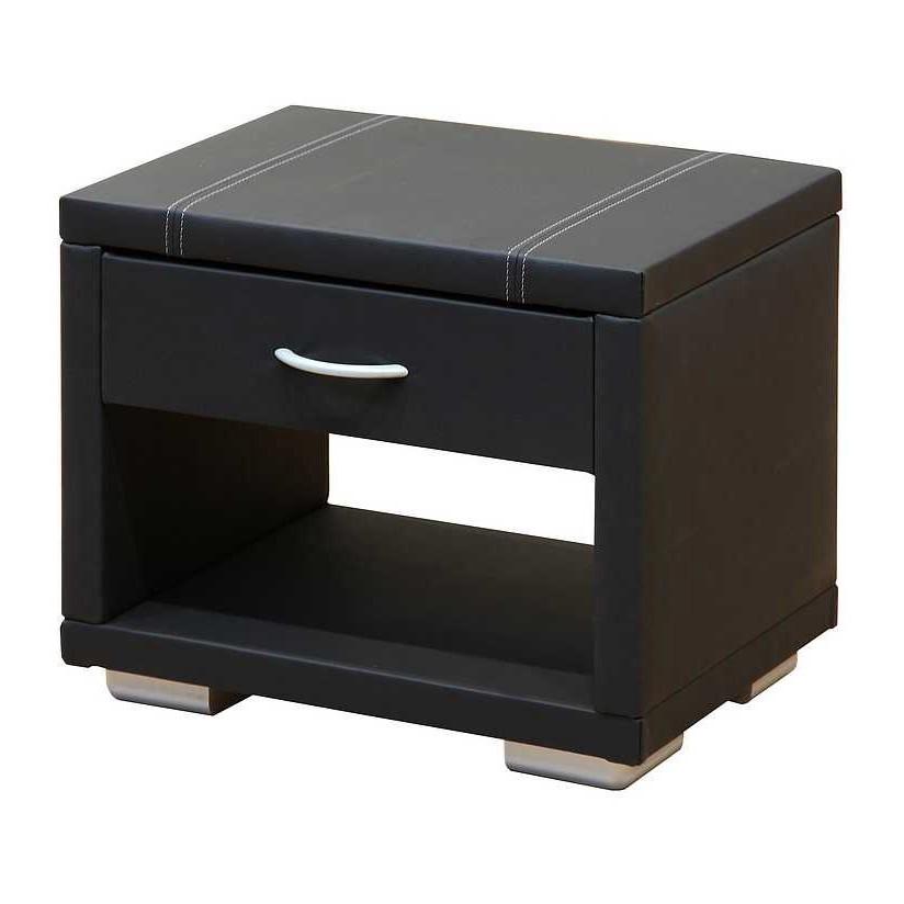 konsole conny echtleder schwarz. Black Bedroom Furniture Sets. Home Design Ideas