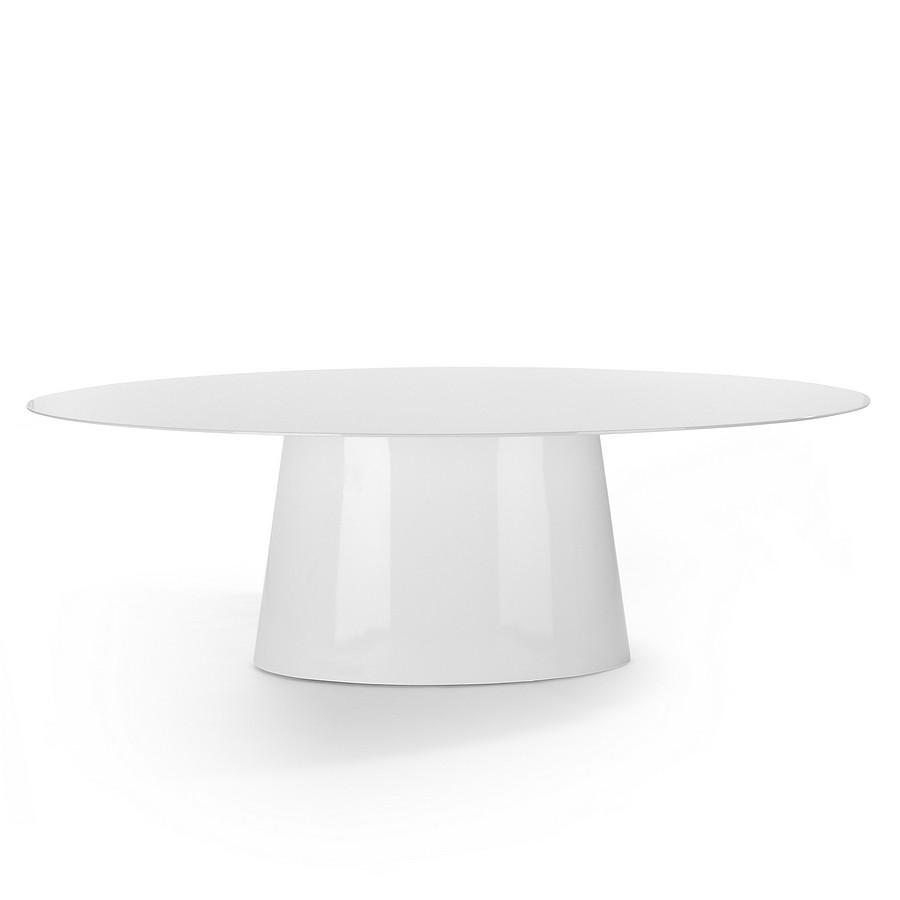 Tisch Controversia - Hochglanz Weiß, Kare Design