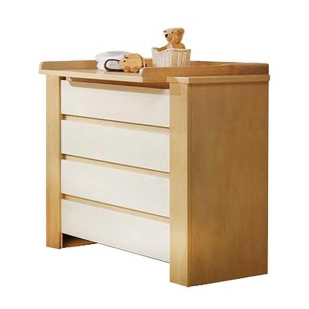 wickelkommode cube mit wickelaufsatz birke wei. Black Bedroom Furniture Sets. Home Design Ideas
