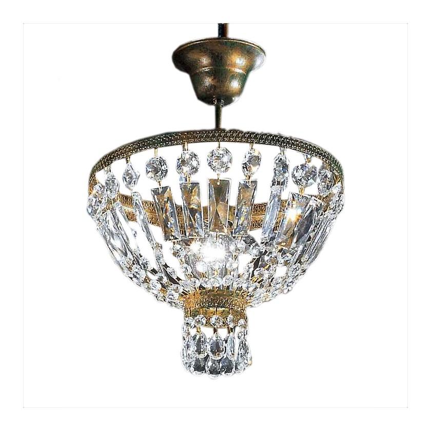 Kronleuchter Cupola ○ Metall/Glas ○ Bronze Antik ○ 1 Flammig  Hans Kögl A+  Günstig