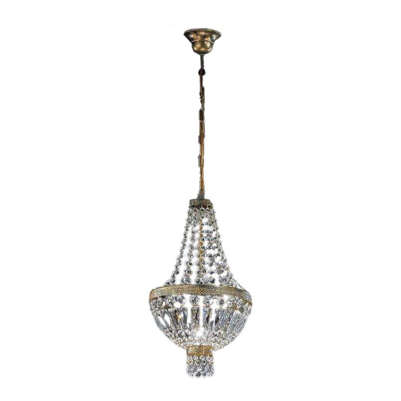 Pendelleuchte Cupola ● Metall/Glas ● Bronze-Gold/Kristall ● 1-flammig- Hans Kögl A+