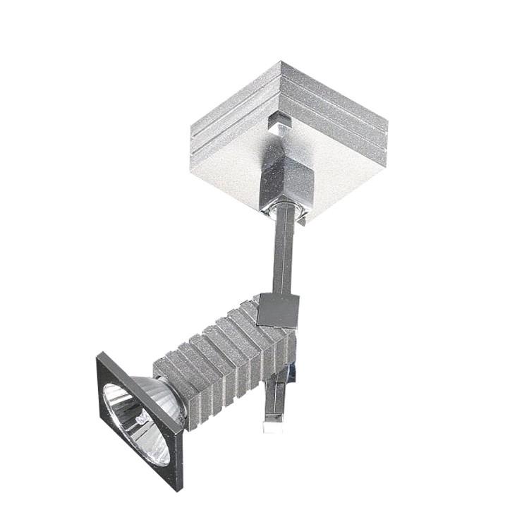 Decken--Wandstrahler Alumini 1 - 1-flammig, Aluminium-Chrom, In-Nova Design