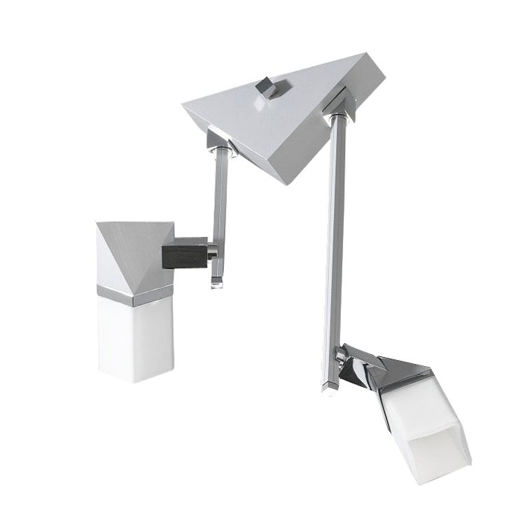 Decken--WandstrahlerAlutop G I - 2-flammig, Aluminium-Chrom, In-Nova Design