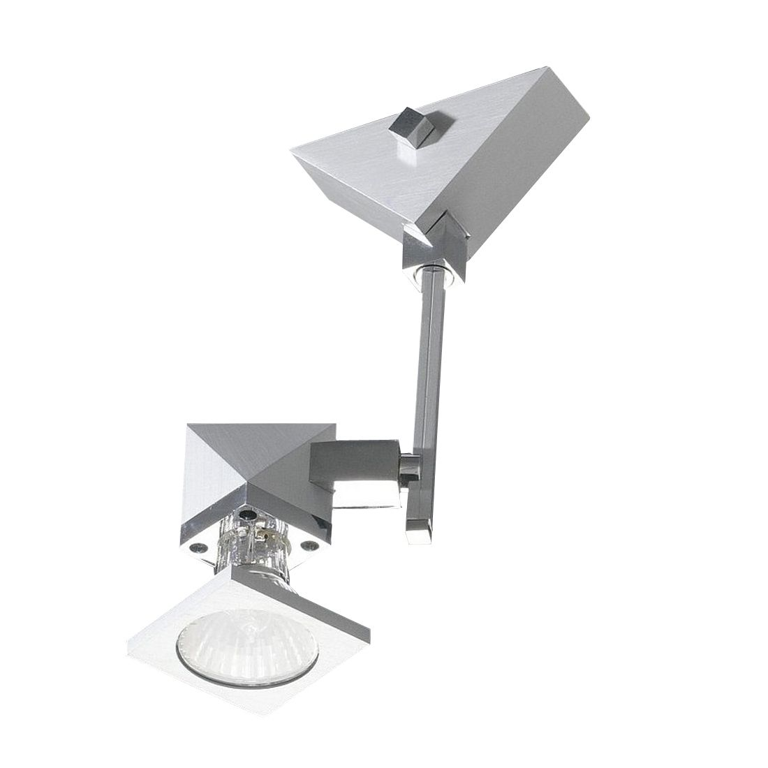 Decken--Wandstrahler Alutop S1 - 1-flammig - Aluminium-Chrom, In-Nova Design