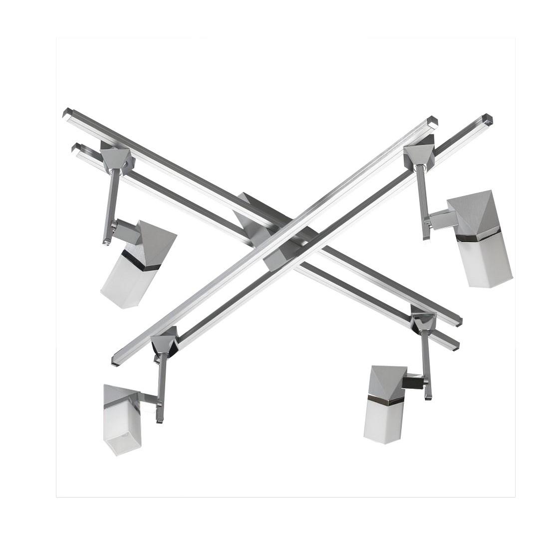 Deckenstrahler Alutop G II - 4-flammig, Aluminium-Chrom, In-Nova Design