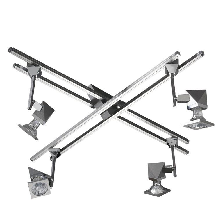 Deckenstrahler Alutop S II - 4-flammig, Aluminium-Chrom, In-Nova Design