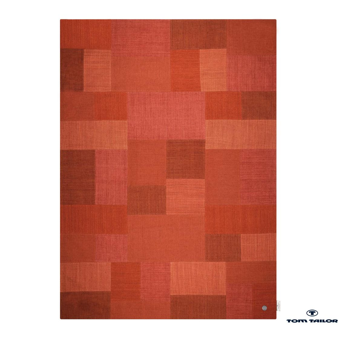 Teppich Patch Denim – Rot – 50x80cm, Tom Tailor günstig bestellen