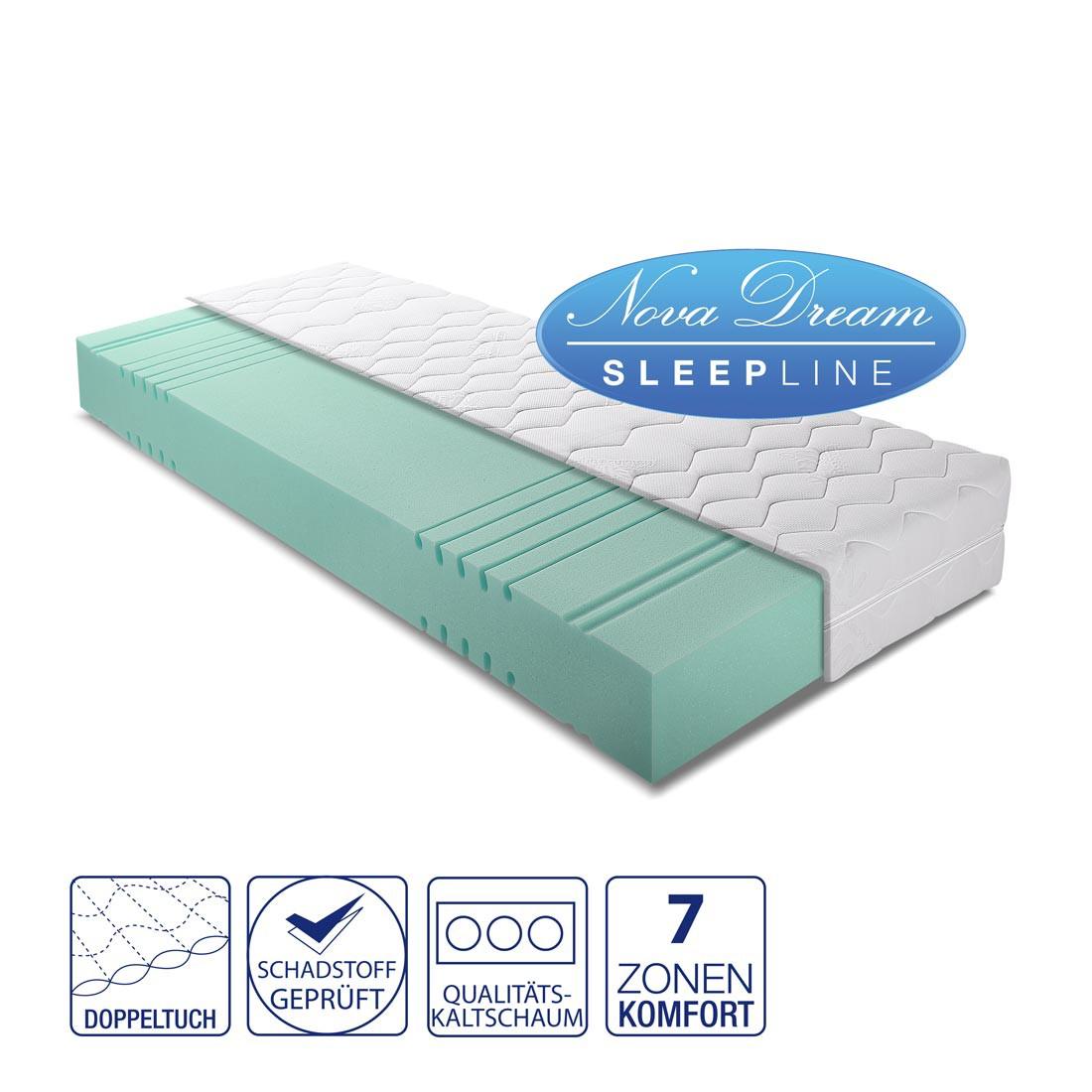 7-Zonen Kaltschaummatratze Dynell – 90 x 200cm – H2 bis 130 kg, Nova Dream Sleepline jetzt kaufen