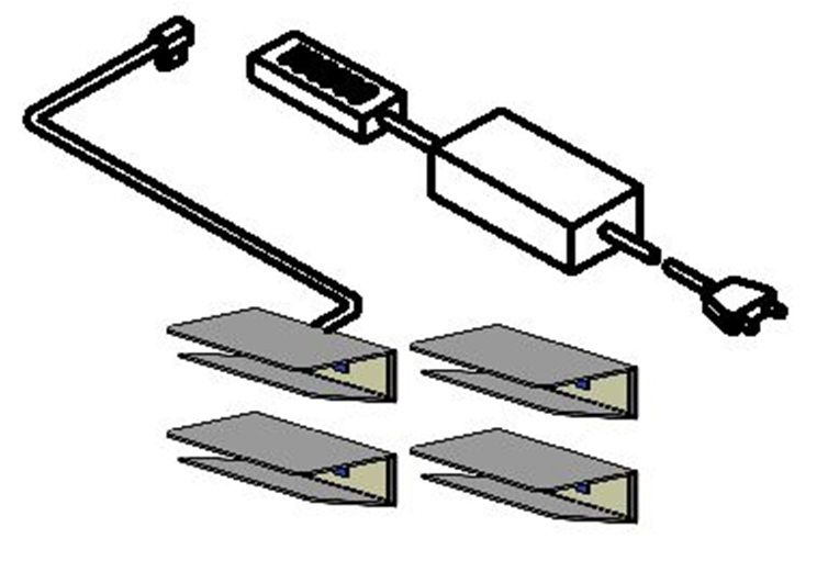 LED-Glaskantenbeleuchtung Swing (Weiß) - 4er-Set (LED-Glaskantenbeleuchtung Swing (4er-Set) - mit Lichtfarbe weiß)