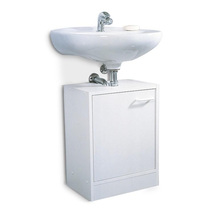 Waschbeckenunterschrank Edmonton   Verschiedene Varianten   Weiß (1 Türig    40cm)