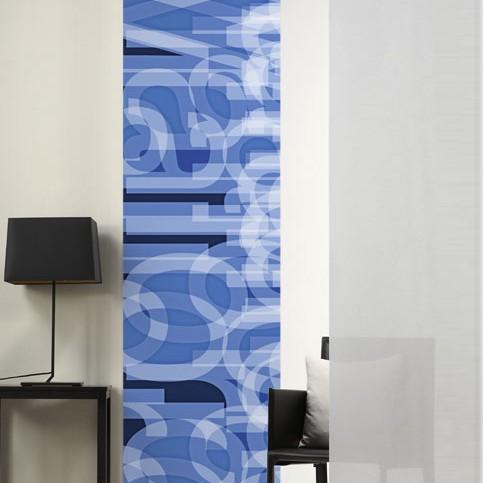 Flächenvorhang Buchstaben – Blau, emotion textiles online kaufen