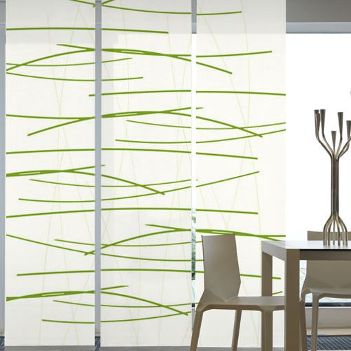 Flächenvorhang Querstreifen(3er-Set) – Grün, emotion textiles günstig bestellen