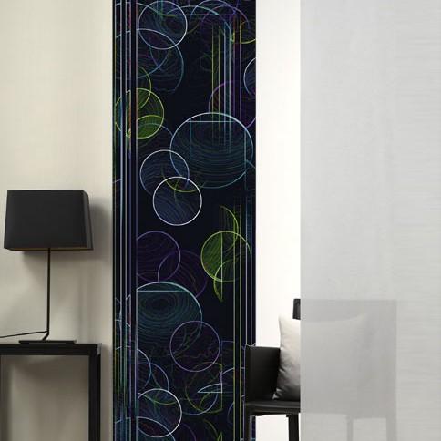 Flächenvorhang Seifenblasen – Dunkel, emotion textiles bestellen