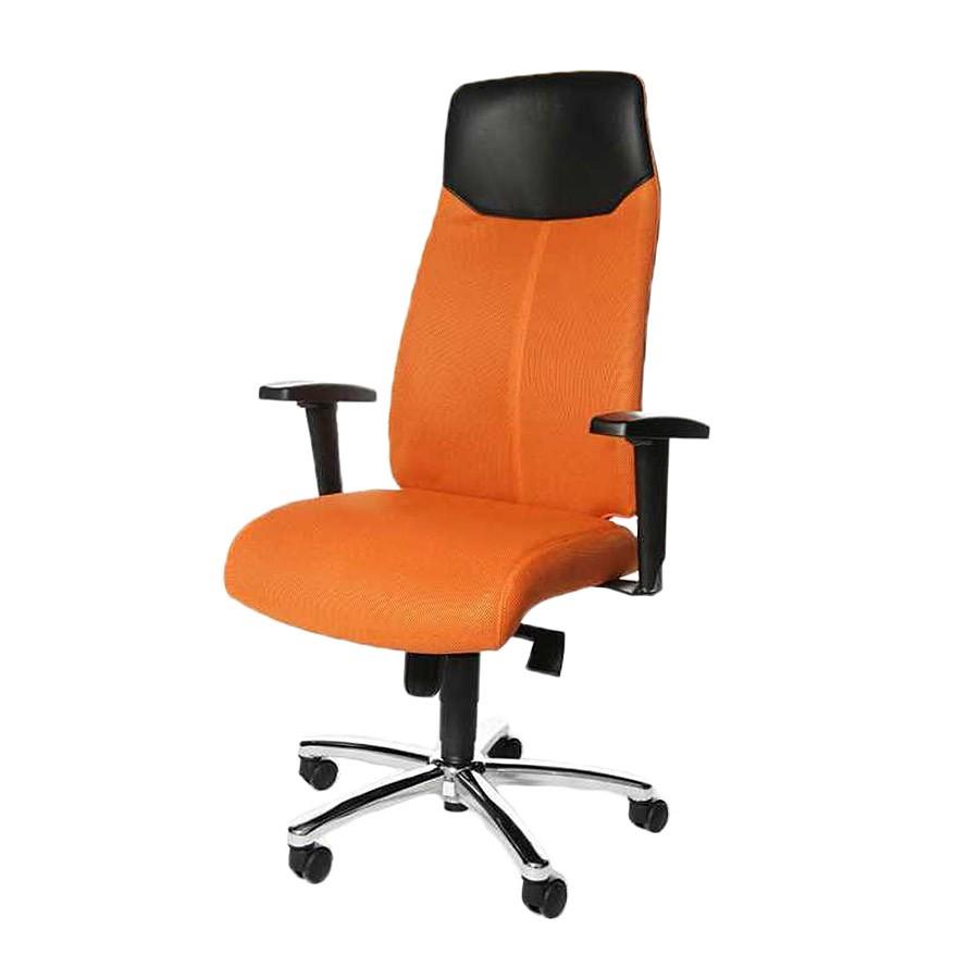 Chefsessel High Sit up – Ergonomisch/Lederkopfstütze – Orange, Topstar kaufen
