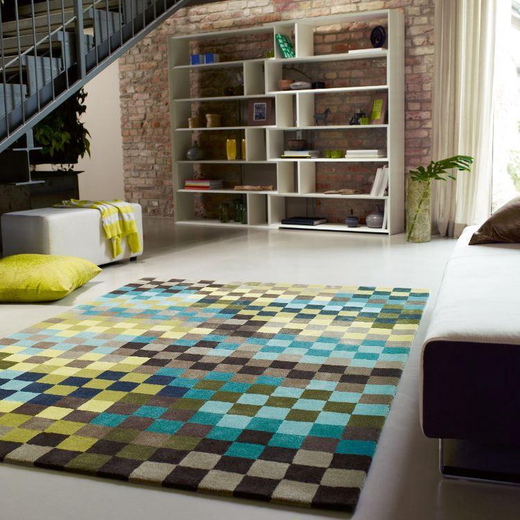 Teppich ESPRIT Pixel – Grün/Blau/Braun – 170 x 240 cm, Esprit Home kaufen