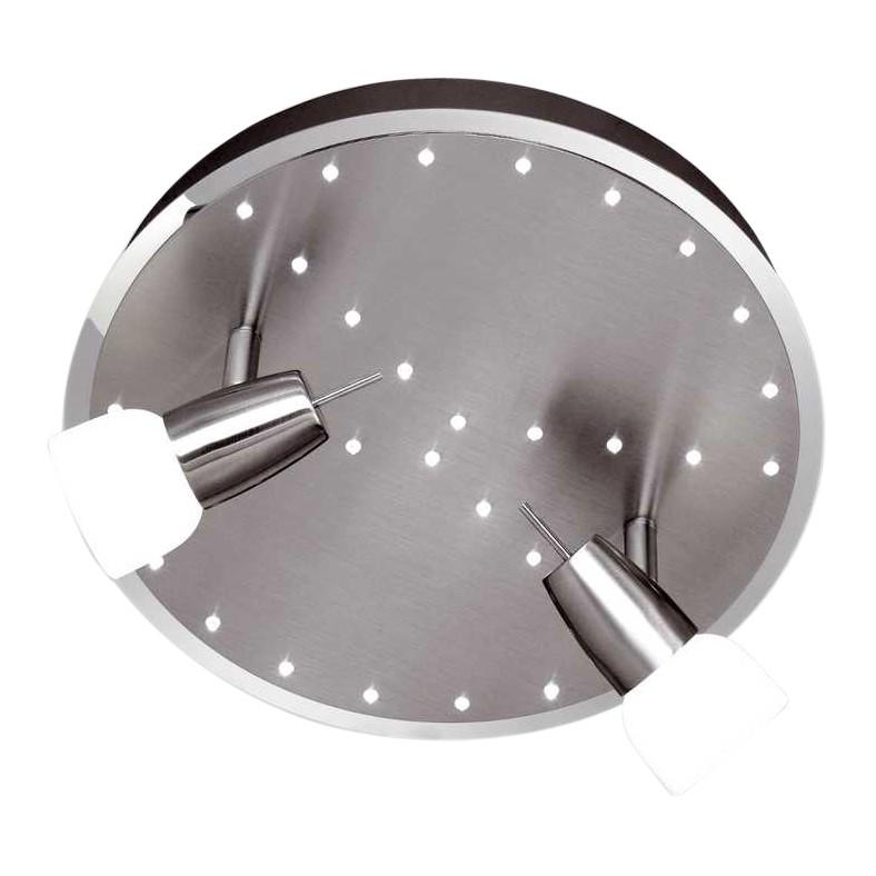 Deckenleuchte Etana ● 2-flammig mit 32 LED`s ● Dreh- und schwenkbar ● mit Serienschalter ● Stahl- Glas satiniert ● Chrom- Weiß- Paul Neuhaus A+