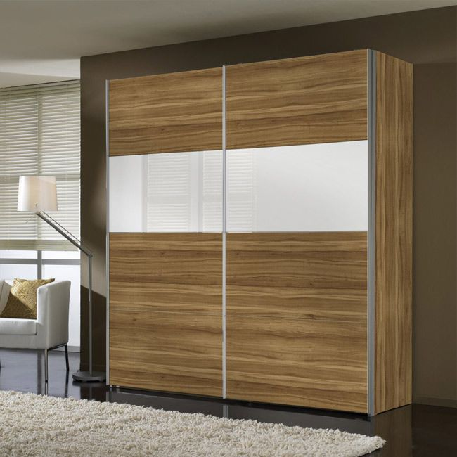 schwebet renschrank laval walnuss wei glas schrankbreite 150 cm. Black Bedroom Furniture Sets. Home Design Ideas