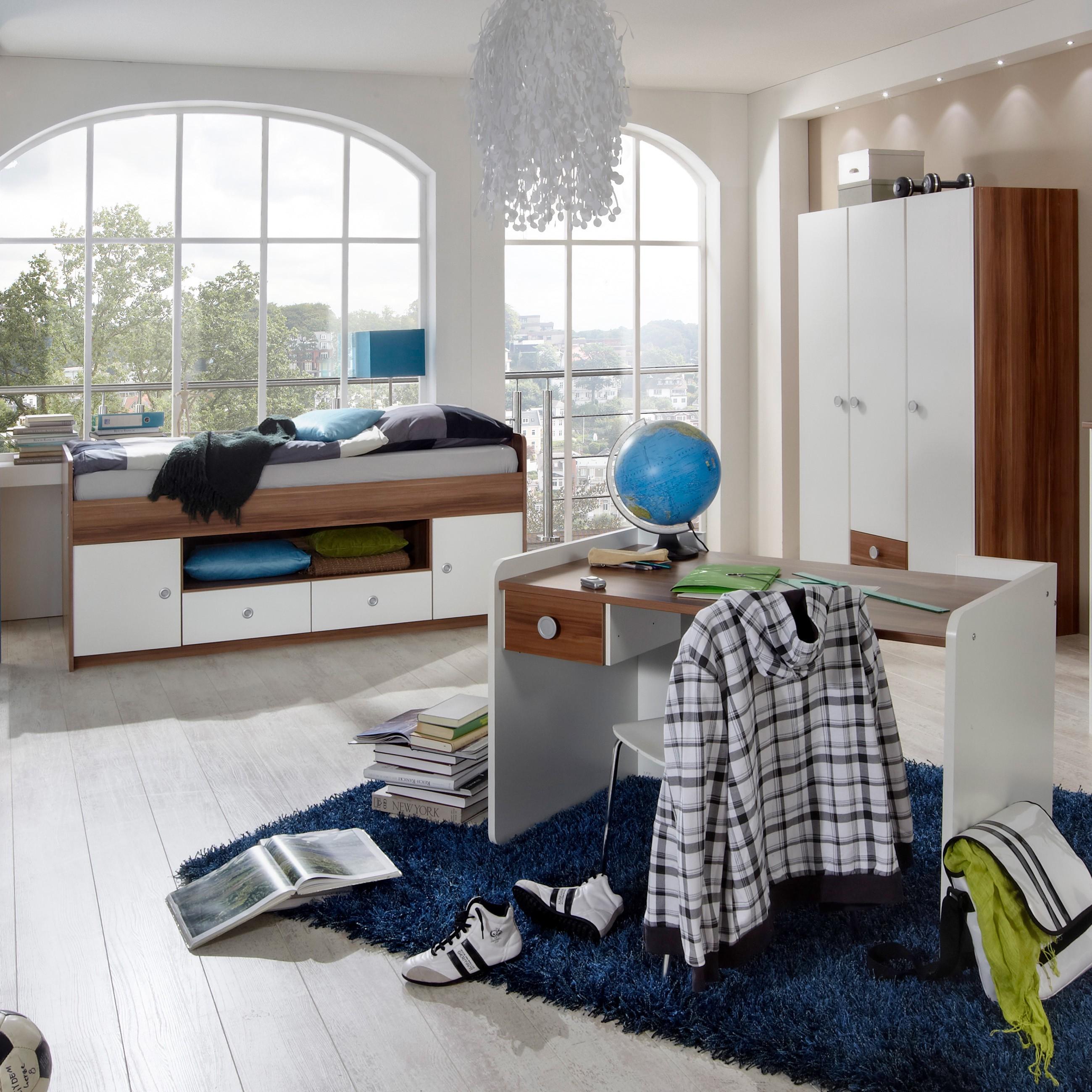 schreibtisch kleiderschrank alpinwei franz sisch nussbaum archive. Black Bedroom Furniture Sets. Home Design Ideas