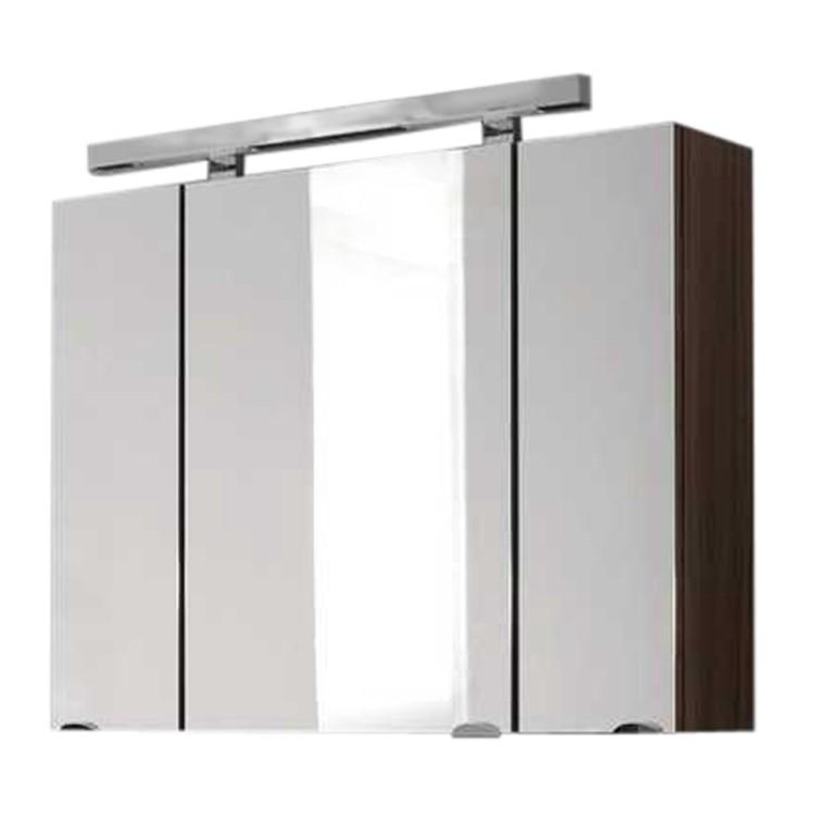 Spiegelschrank Fontana - inkl.Leuchtstoffröhre - Walnuss Dekor