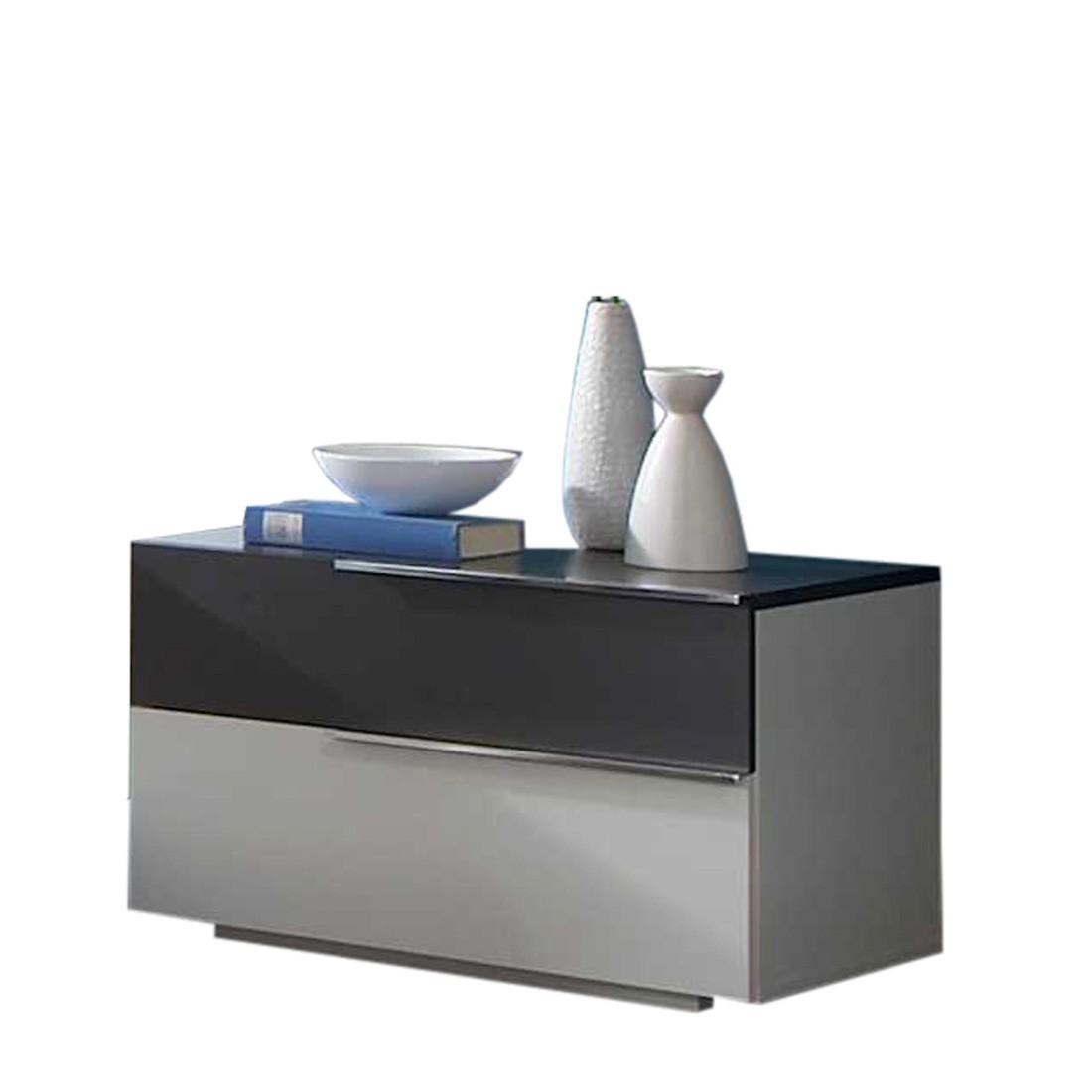 nachtschrank funky alpinwei fraktalglas anthrazit 2. Black Bedroom Furniture Sets. Home Design Ideas