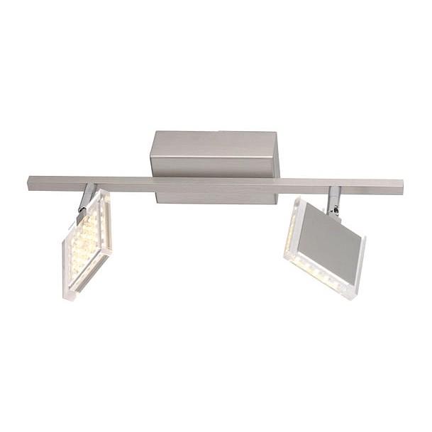 LED-Deckenleuchte FUTURA ● Stahl ● Silber ● 2- Paul Neuhaus A+