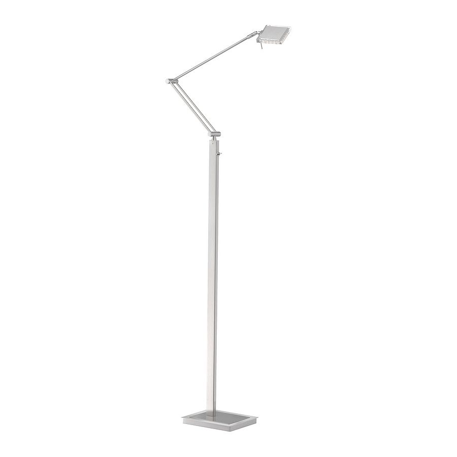 LED-Stehleuchte FUTURA ● Stahl ● Silber- Paul Neuhaus A+
