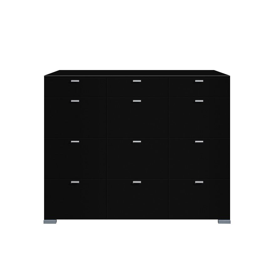 highboard gallery 12 schubladen schwarz. Black Bedroom Furniture Sets. Home Design Ideas