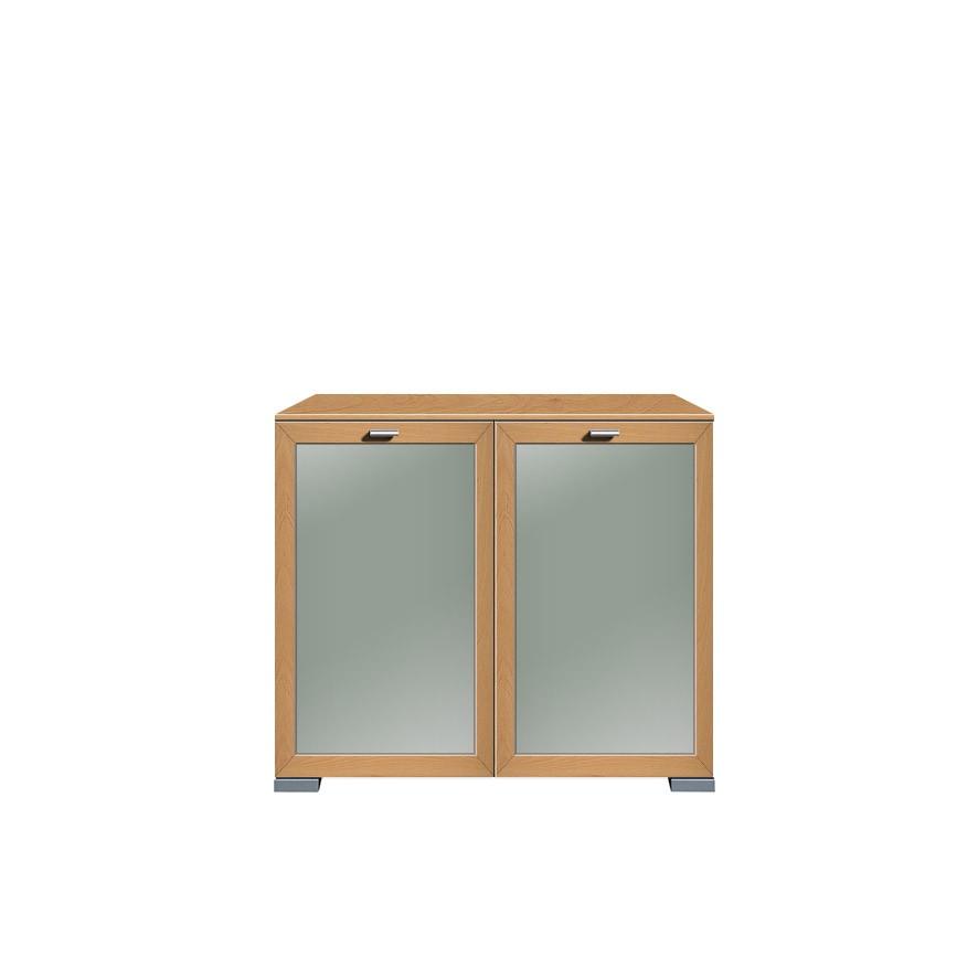 Kommode Gallery (2-türig) – Buche Dekor/Floatglas, Arte M bestellen