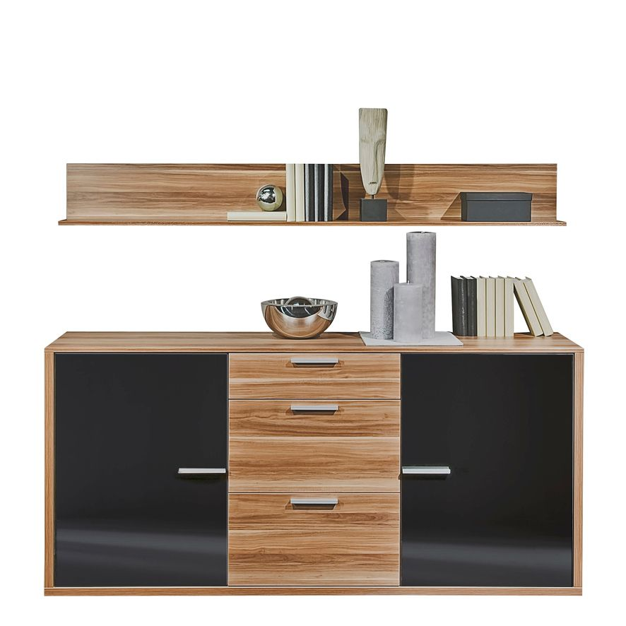 sideboard game inkl wandboard nussbaum. Black Bedroom Furniture Sets. Home Design Ideas