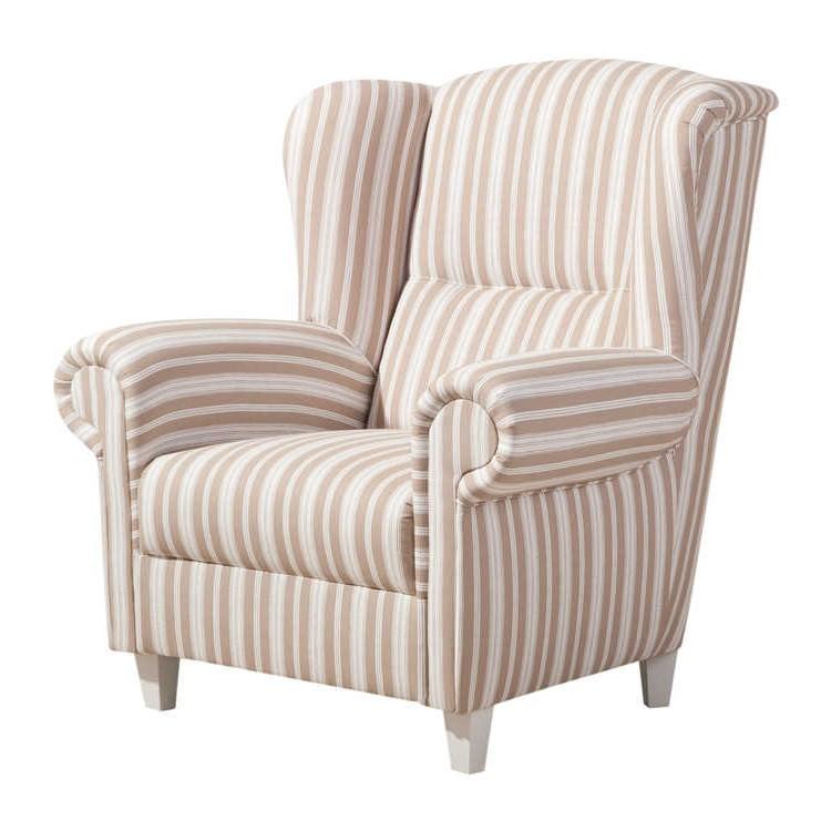 ohrensessel g teborg webstoff beige gestreift max winzer g nstig kaufen. Black Bedroom Furniture Sets. Home Design Ideas