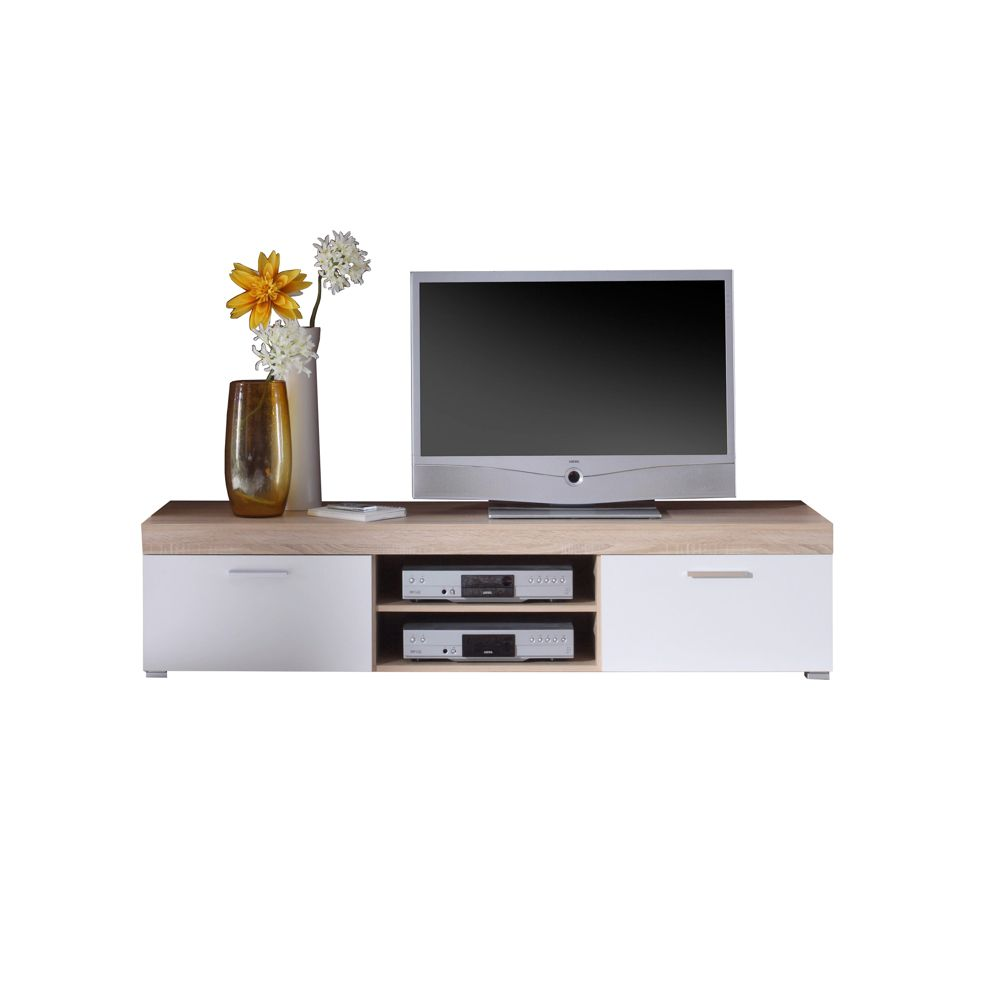 tv lowboard felina wei eichedekor 174 cm breit. Black Bedroom Furniture Sets. Home Design Ideas
