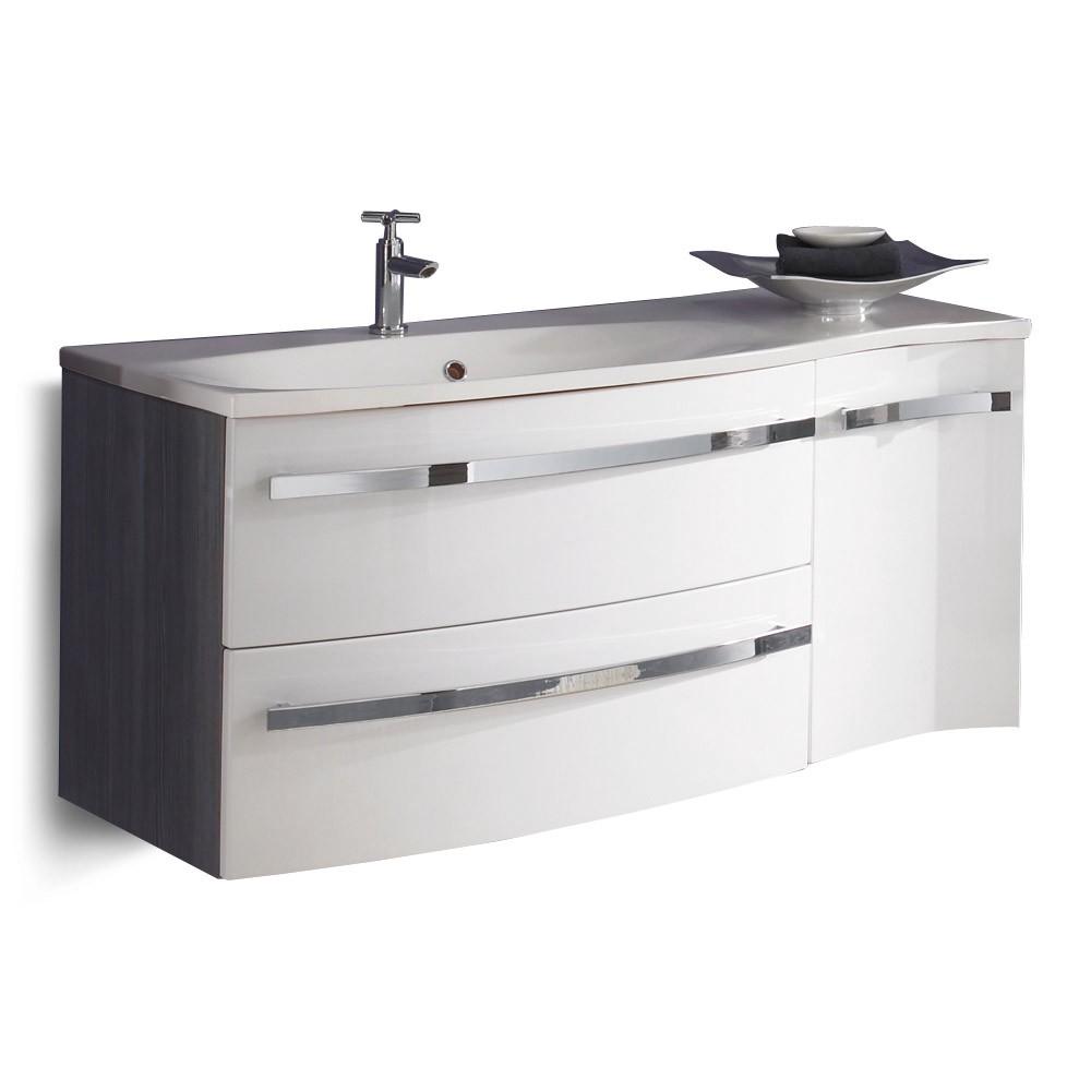 Waschplatz Halifax - Pinie-Anthrazit/Weiß Hochglanz