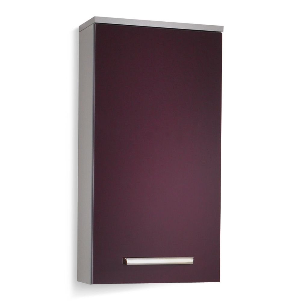 h ngeschrank hamilton silber aubergine hochglanz. Black Bedroom Furniture Sets. Home Design Ideas