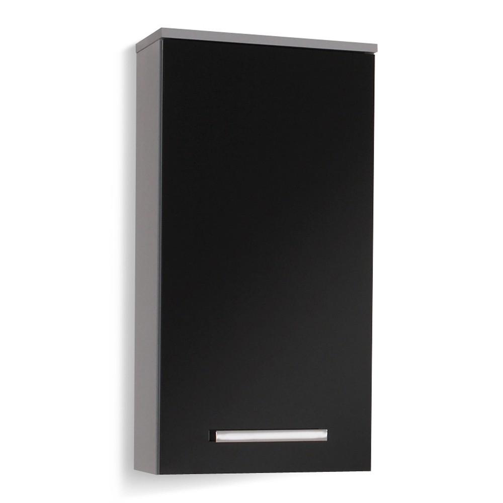 Hangkast Hamilton - zilver/zwart hoogglans