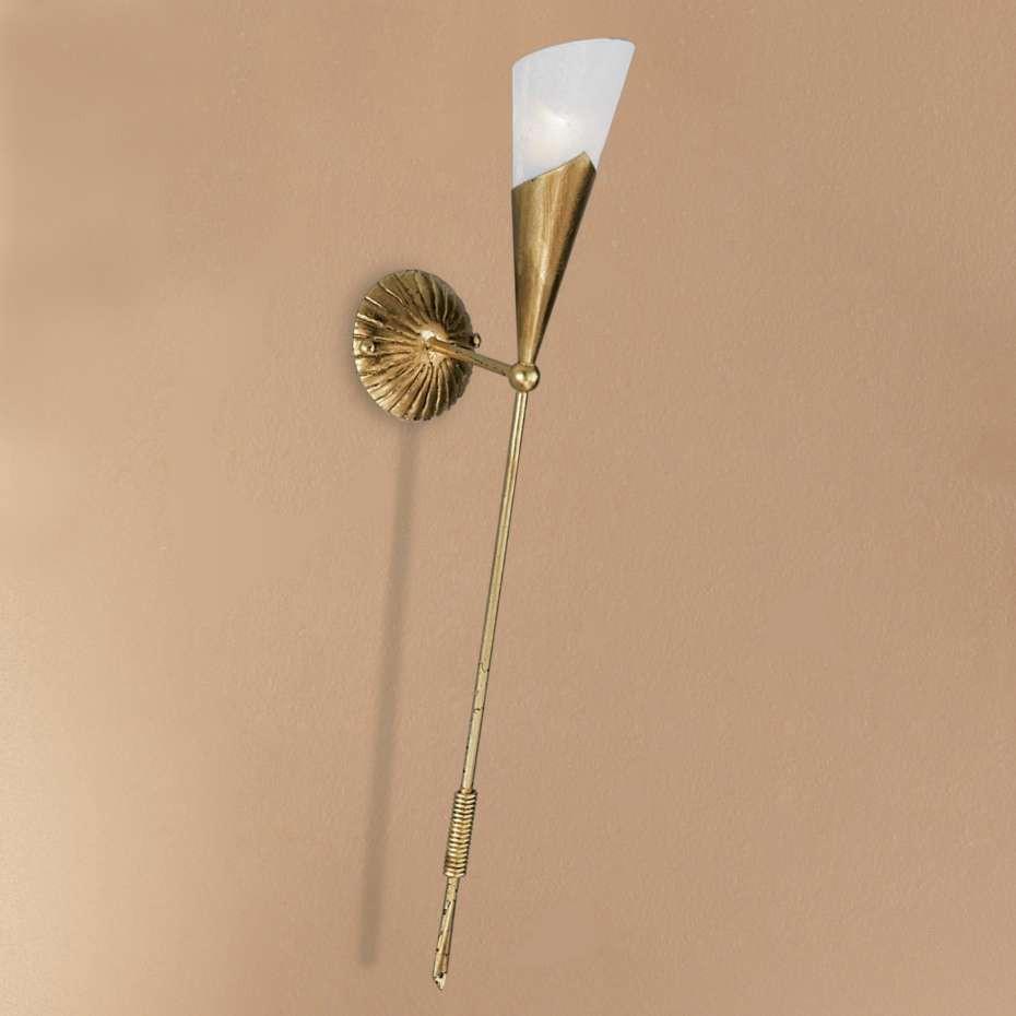 wandleuchte fackel metall glas schwarz gold wei 1 flammig hans k gl a jetzt bestellen. Black Bedroom Furniture Sets. Home Design Ideas