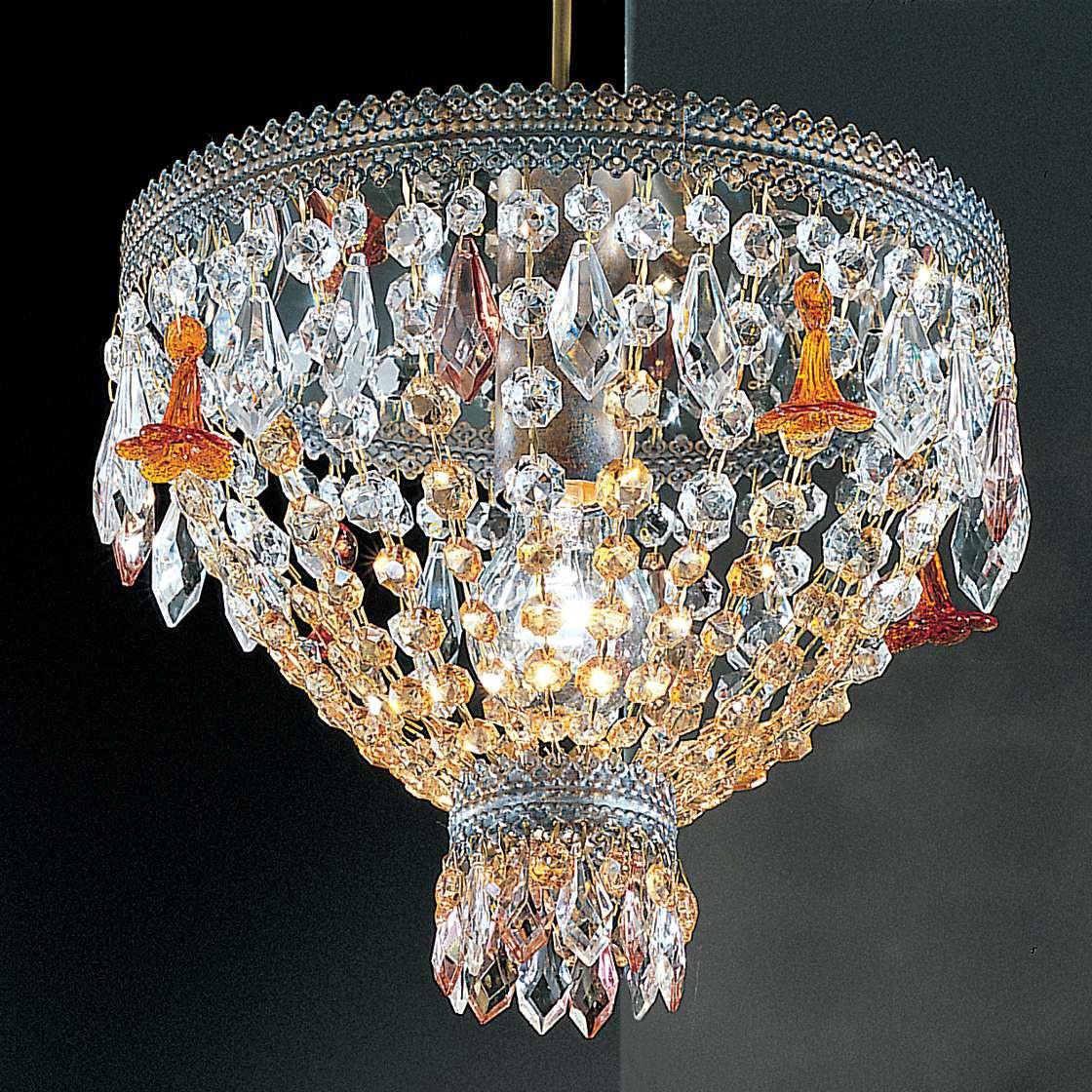 Kronleuchter Golden Dream ● Metall/Kristall ● Silberblau ● 1-flammig- Hans Kögl A+