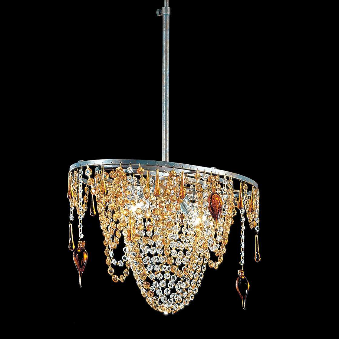 Pendelleuchte Golden Dream ● Metall/Kristall ● Silberblau ● 2-flammig- Hans Kögl A+
