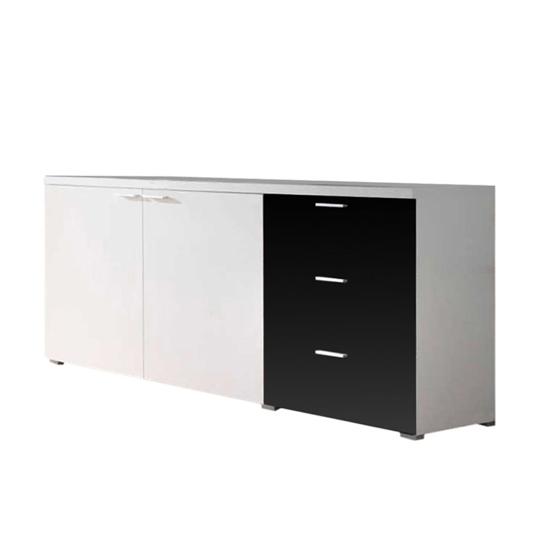 sideboard highlife wei schwarz schrank. Black Bedroom Furniture Sets. Home Design Ideas