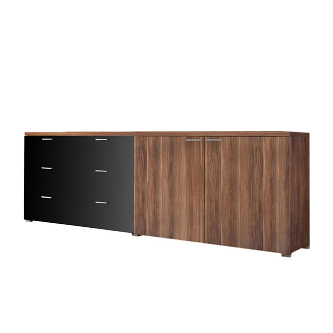 sideboard highlife walnuss dekor sideboard highlife 3 schubk sten schwarz. Black Bedroom Furniture Sets. Home Design Ideas