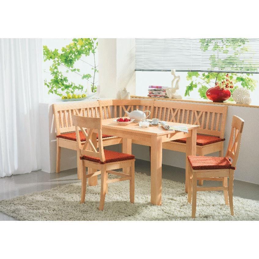 Graz Esszimmer Set mit Tisch Salzburg - mit Sitzkissen, Holta Massivmöbel